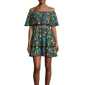 Alice + Olivia Tylie Tiered Tropical Floral Dress